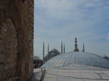 view from the inside of Hagia Sophia